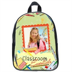 Custom Photo BACKPACK School Bag Leather Polyester #AN