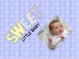 Baby Boy Blanket add YOUR Baby photo Small 30 x 40 Fleece Photo Throw Blanket Made in USA