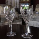 Waterford Araglin Claret Wine gold Trim set of two