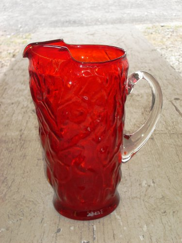 Seneca Driftwood Casual Royal Red Pitcher with clear handle