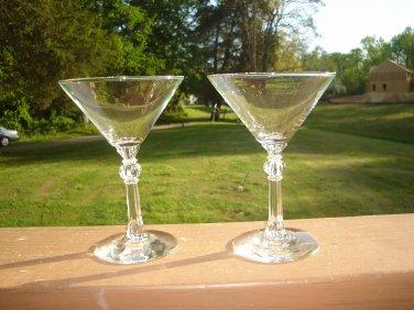 Libbey Stardust Martini Cocktail Glass Circa 1950's