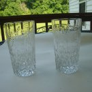 "Rogaska  Gallia High Ball 5 1/4"" tumbler set of 2"