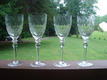 Rogaska Gallia Water Goblets
