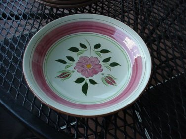 """Stangl Wild Rose Coupe Soup Bowl 7 3/4"""""""