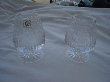 Rogaska Brandy glasses Steklarna