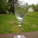 "Rogaska Gallia Wine Goblet  7 3/4"" tall Gold Rim"