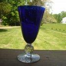 Morgantown Golf Ball Ritz Blue 9 oz Water Glass