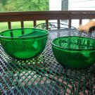Anchor Hocking Forrest Green mixing bowls set