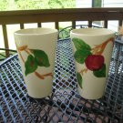 "Franciscan Apple tumbler 12 oz. 5 1/4"" tall"