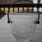 Rogaska  Gallia Ice Bucket with silver plate Handle