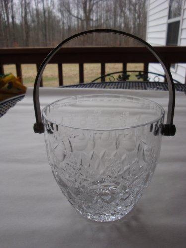Rogaska  Gallia Ice Bucket with silver plate Handle