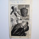 Artist M. Whelphey illustrator original drawing