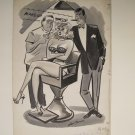William Bill Wenzel  Adult Cartoon Original Illustration signed