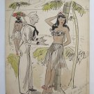 Original Artwork Louis Priscilla for G I Gags of 1945 Adult Cartoon illustration