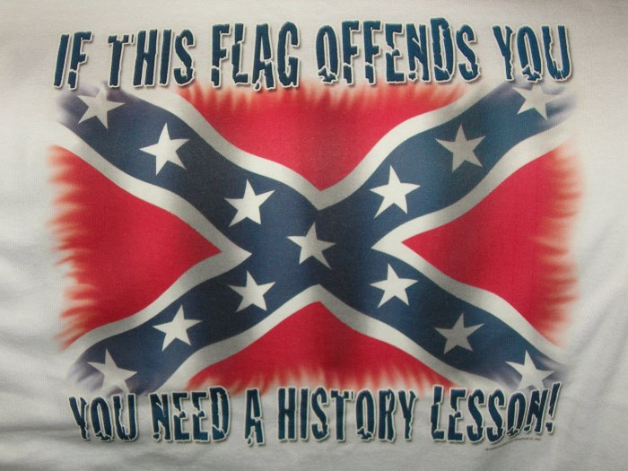 If This Flag Offends You Need A History Lesson T-Shirt  Large