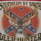 Southern By Birth Deer Hunter T-Shirt Large