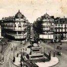 French Postcard, Orleans Place du Martroi et rue de la Republique, Black & White c.1941