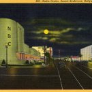 Hollywood California Postcard, NBC Radio Center on Sunset Blvd. c.1940