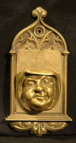 Brass Figural Match Holder, Wall Mount c.1900