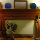 Wood Fireplace Mantle with Surround, Hand Cut Dental Moldings c.1940