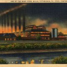 Pittsburgh Pennsylvania Postcard, Steel Center of The World, Full Color c.1936