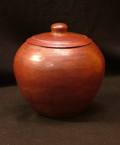 Arts and Crafts Style Copper Pot, Matching Lid c.1910