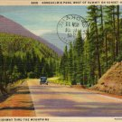 Washington State Postcard, Snoqualmie Pass on Sunset Hwy No.10 c.1934