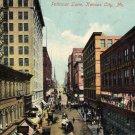 Kansas City Missouri Postcard, View Down Petticoat Lane c.1910
