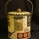Baret Ware English Bisquit Bucket, Metal, Five Colors c.1940