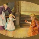 Soapine Ad Postcard Giveaway, Washes Dishes & Utensils, Baby's First Steps c.1908