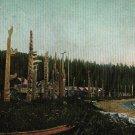 Vancouver B.C. Postcard, Graham Island Totem Poles, Haida Gwaii Queen Charlotte Islands c.1908