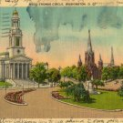 Washington D.C. Postcard, Thomas Circle c.1946