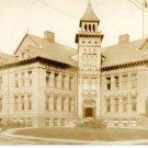 Toledo Ohio Postcard, Public School Building, Sepia Tone Real Photo c.1900