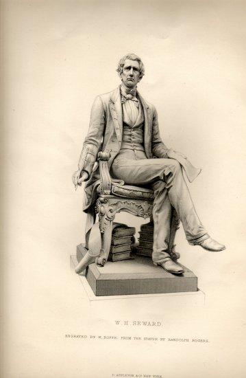 William H. Seward, Randolph Rogers Statue, Art Journal Print c.1877