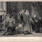 Offer of Crown to Lady Jane Grey, Print, C.R. Leslie, Art Journal c.1877