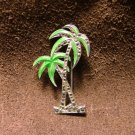 Palm Tree Pin, Sterling Silver, Enamel & Hematite c.1927