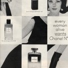 Vintage Chanel No. 5 Ad, Black and White c.1963