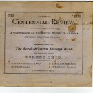 North Western Savings Bank Giveaway, The Centennial Review, Toledo Ohio c.1876