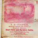T.S. Cooper, Breeder of Sheep & Cattle, Sales Notes and Envelopes, Coopersburg PA c.1875