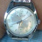 Waltham Men's Self Winding Watch in Stainless with Round Dial, Runs Great c.1950
