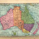 Map of Australia, C.S. Hammond & Co. Atlas, Full Color c.1910