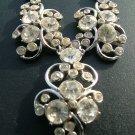 Coro Rhinestone Necklace, Y-Shaped & Chunky c.1951