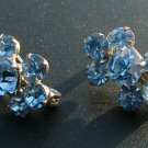 Rhinestone Pin Set, Light Blue, Cluster Arrangement c.1947