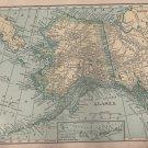 Map of Alaska, C.S. Hammond & Co. Atlas, Full Color c.1910