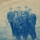 Cyanotype Portrait Postcard, Men in Hats c.1907