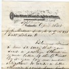 Letter Regarding Ohio State Fairs, Board of Agriculture, R.C. Thompson c.1875