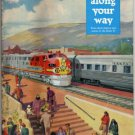 Santa Fe Super Chief Railroad Timetable Map c.1950