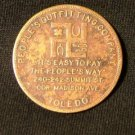 Store Credit Token, The People's Outfitting Co., Toledo Ohio c.1920