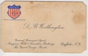Niagara Falls & Lewiston Railroad Business Card, New York c.1897