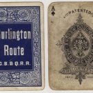 Chicago, Burlington & Quincy Railroad Playing Cards, Full Deck in Blue c.1888